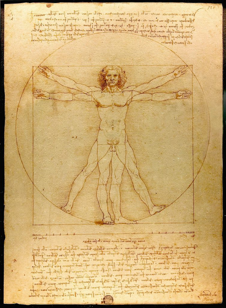 Den vitruvianske mand af Leonardo da Vinci