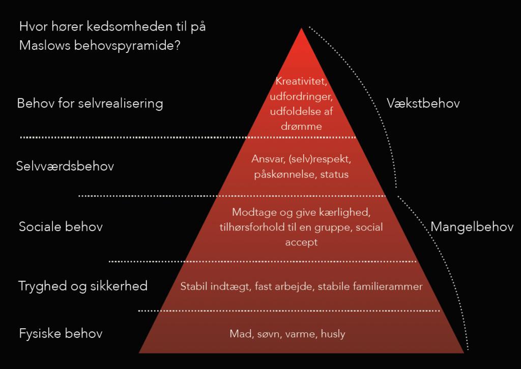 Kedsomhed - Maslows behovspyramide